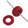 Ceramic Bead Washer 6X2.5mm Red